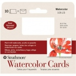 "Strathmore® Announcement Size Watercolor Cards: White/Ivory, Envelope Included, Card, 10 Cards, 3 1/2"" x 4 7/8"", Cold Press, Watercolor, 140 lb, (model ST105-23), price per 10 Cards"