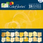 """Blue Hills Studio™ ColorStories™ 12"""" x 12"""" Paper Pack Yellow; Color: Yellow; Size: 12"""" x 12""""; Weight: 45 lb; (model BHS10201), price per pack"""