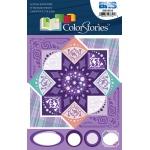 "Blue Hills Studio™ ColorStories™ Cardstock Stickers Purple; Color: Purple; Material: Cardstock; Size: 4 3/4"" x 5 3/4""; Type: Flat; (model BHS10514), price per each"
