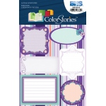 """Blue Hills Studio™ ColorStories™ Embossed Cardstock Stickers Purple; Color: Purple; Material: Cardstock; Size: 4 3/4"""" x 5 3/4""""; Type: Flat; (model BHS10515), price per each"""