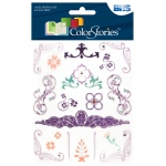 """Blue Hills Studio™ ColorStories™ Rub-Ons with Bling Purple; Color: Purple; Material: Paper; Size: 4 3/4"""" x 5 3/4""""; Type: Flat; (model BHS10518), price per each"""