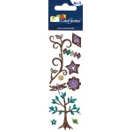 """Blue Hills Studio™ ColorStories™ Glitter Bling Stickers Brown; Color: Brown; Material: Glitter; Size: 2"""" x 5 3/4""""; Type: Flat; (model BHS10612), price per each"""
