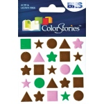 """Blue Hills Studio™ ColorStories™ Puffy Mesh Stickers Brown; Color: Brown; Material: Mesh; Size: 3 1/4"""" x 3 1/4""""; Type: Dimensional; (model BHS10613), price per each"""