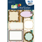 """Blue Hills Studio™ ColorStories™ Embossed Cardstock Stickers Brown; Color: Brown; Material: Cardstock; Size: 4 3/4"""" x 5 3/4""""; Type: Flat; (model BHS10615), price per each"""