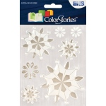 """Blue Hills Studio™ ColorStories™ Epoxy Snowflower Stickers White; Color: White/Ivory; Material: Epoxy; Size: 4 3/4"""" x 5 3/4""""; Type: Dimensional; (model BHS10707), price per each"""