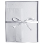 "Blue Hills Studio™ Fine Writing Stationery 20-Sheet Set Gray: Black/Gray, White/Ivory, Envelope Included, Sheet, 8 1/2"" x 11"", Smooth, (model BHS20203), price per set"