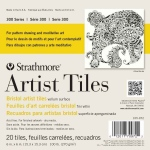 "Strathmore® 6"" x 6"" Bristol Artist Tiles; Color: White/Ivory; Format: Tile; Quantity: 20 Tiles; Size: 6"" x 6""; Texture: Vellum; Type: Bristol; Weight: 100 lb; (model ST105-972), price per 20 Tiles pad"