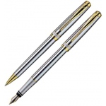 X-Pen® Novo Ballpoint and Fountain Pen Set; Color: Black/Gray; Type: Ballpoint, Fountain; (model XP141S), price per set