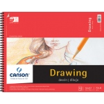 "Canson® Foundation Series 14"" x 17"" Foundation Drawing Pad; Binding: Wire Bound; Color: White/Ivory; Format: Pad; Quantity: 30 Sheets; Size: 14"" x 17""; Texture: Fine; (model C100510980), price per 30 Sheets pad"