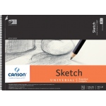 "Canson® Artist Series Universal™ 18"" x 24"" Sketch Pad; Binding: Wire Bound; Color: White/Ivory; Format: Pad; Quantity: 35 Sheets; Size: 18"" x 24""; Texture: Fine; (model C100510854), price per 35 Sheets pad"