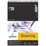 "Canson® Artist Series 9"" x 12"" Drawing Sheet Pad; Binding: Wire Bound; Color: White/Ivory; Format: Pad; Quantity: 24 Sheets; Size: 9"" x 12""; Texture: Fine; (model C100510890), price per 24 Sheets pad"