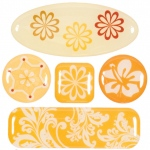 """Blue Hills Studio™ ColorStories™ 3D Charms Yellow; Color: Yellow; Material: Epoxy; Size: 3 1/4"""" x 3 1/4""""; Type: Dimensional; (model BHS10204), price per each"""