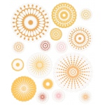 """Blue Hills Studio™ ColorStories™ Cardstock Stickers Yellow; Color: Yellow; Material: Paper; Size: 4 3/4"""" x 5 3/4""""; Type: Flat; (model BHS10205), price per each"""