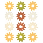 """Blue Hills Studio™ ColorStories™ Flocked Daisy Stickers Yellow; Color: Yellow; Material: Flock; Size: 4 3/4"""" x 5 3/4""""; Type: Flat; (model BHS10206), price per each"""