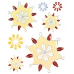 """Blue Hills Studio™ ColorStories™ Epoxy Snowflower Stickers Yellow; Color: Yellow; Material: Epoxy; Size: 4 3/4"""" x 5 3/4""""; Type: Dimensional; (model BHS10207), price per each"""