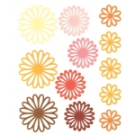 """Blue Hills Studio™ ColorStories™ Gel Outline Daisy Stickers Yellow; Color: Yellow; Material: Gel; Size: 4 3/4"""" x 5 3/4""""; Type: Dimensional; (model BHS10208), price per each"""