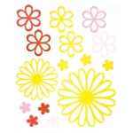 """Blue Hills Studio™ ColorStories™ Glossy Embossed Daisy Stickers Yellow; Color: Yellow; Material: Gel; Size: 4 3/4"""" x 5 3/4""""; Type: Dimensional; (model BHS10211), price per each"""