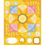"""Blue Hills Studio™ ColorStories™ Cardstock Stickers Yellow; Color: Yellow; Material: Cardstock; Size: 4 3/4"""" x 5 3/4""""; Type: Flat; (model BHS10214), price per each"""