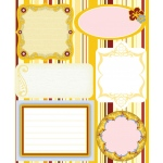 """Blue Hills Studio™ ColorStories™ Embossed Cardstock Stickers Yellow; Color: Yellow; Material: Cardstock; Size: 4 3/4"""" x 5 3/4""""; Type: Flat; (model BHS10215), price per each"""
