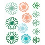 """Blue Hills Studio™ ColorStories™ Gel Outline Daisy Stickers Green; Color: Green; Material: Gel; Size: 4 3/4"""" x 5 3/4""""; Type: Dimensional; (model BHS10308), price per each"""