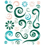 """Blue Hills Studio™ ColorStories™ Epoxy Swirl Stickers Green; Color: Green; Material: Epoxy; Size: 4 3/4"""" x 5 3/4""""; Type: Dimensional; (model BHS10307), price per each"""