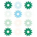 """Blue Hills Studio™ ColorStories™ Flocked Daisy Stickers Green; Color: Green; Material: Flock; Size: 4 3/4"""" x 5 3/4""""; Type: Flat; (model BHS10306), price per each"""