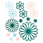 """Blue Hills Studio™ ColorStories™ Glossy Embossed Daisy Stickers Green; Color: Green; Material: Gel; Size: 4 3/4"""" x 5 3/4""""; Type: Dimensional; (model BHS10311), price per each"""