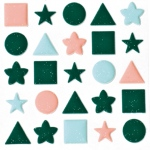 """Blue Hills Studio™ ColorStories™ Puffy Mesh Stickers Green; Color: Green; Material: Mesh; Size: 3 1/4"""" x 3 1/4""""; Type: Dimensional; (model BHS10313), price per each"""