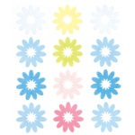 """Blue Hills Studio™ ColorStories™ Flocked Daisy Stickers Blue; Color: Blue; Material: Flock; Size: 4 3/4"""" x 5 3/4""""; Type: Flat; (model BHS10406), price per each"""