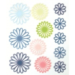 """Blue Hills Studio™ ColorStories™ Gel Outline Daisy Stickers Blue; Color: Blue; Material: Gel; Size: 4 3/4"""" x 5 3/4""""; Type: Dimensional; (model BHS10408), price per each"""