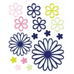 """Blue Hills Studio™ ColorStories™ Glossy Embossed Daisy Stickers Blue; Color: Blue; Material: Gel; Size: 4 3/4"""" x 5 3/4""""; Type: Dimensional; (model BHS10411), price per each"""