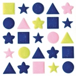 """Blue Hills Studio™ ColorStories™ Puffy Mesh Stickers Blue; Color: Blue; Material: Mesh; Size: 3 1/4"""" x 3 1/4""""; Type: Dimensional; (model BHS10413), price per each"""
