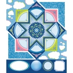 """Blue Hills Studio™ ColorStories™ Cardstock Stickers Blue; Color: Blue; Material: Cardstock; Size: 4 3/4"""" x 5 3/4""""; Type: Flat; (model BHS10414), price per each"""