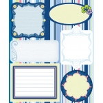 """Blue Hills Studio™ ColorStories™ Embossed Cardstock Stickers Blue; Color: Blue; Material: Cardstock; Size: 4 3/4"""" x 5 3/4""""; Type: Flat; (model BHS10415), price per each"""