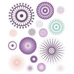 "Blue Hills Studio™ ColorStories™ Cardstock Stickers Purple; Color: Purple; Material: Paper; Size: 4 3/4"" x 5 3/4""; Type: Flat; (model BHS10505), price per each"
