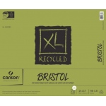 "Canson® XL® 14"" x 17"" Recycled Bristol Pad (Fold Over): Fold Over, White/Ivory, Pad, 25 Sheets, 14"" x 17"", Smooth, Vellum, (model C100510934), price per 25 Sheets pad"