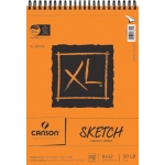 "Canson® XL® 9"" x 12"" Sketch Pad (Top Wire): Wire Bound, White/Ivory, Pad, 100 Sheets, 9"" x 12"", Medium, (model C100510939), price per 100 Sheets pad"