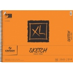 "Canson® XL® 18"" x 24"" Sketch Pad (Side Wire); Binding: Wire Bound; Color: White/Ivory; Format: Pad; Quantity: 50 Sheets; Size: 18"" x 24""; Texture: Medium; (model C100510940), price per 50 Sheets pad"