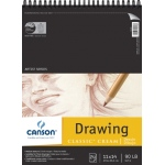 "Canson® Classic™ Artist Series 11"" x 14"" Drawing Pad (Top Wire): Wire Bound, White/Ivory, Pad, 24 Sheets, 11"" x 14"", Medium, (model C100510974), price per 24 Sheets pad"