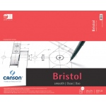"Canson® Foundation Series 19"" x 24"" Foundation Bristol Sheet Pad; Binding: Fold Over; Color: White/Ivory; Format: Pad; Quantity: 15 Sheets; Size: 19"" x 24""; Texture: Smooth; (model C100511016), price per 15 Sheets pad"