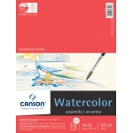 "Canson® Foundation Series 9"" x 12"" Watercolor Cold Press 15-Sheet Pad: Fold Over, White/Ivory, Pad, 15 Sheets, 9"" x 12"", Cold Press, (model C100511022), price per 15 Sheets pad"