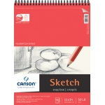 "Canson® Foundation Series 11"" x 14"" Wire Bound Sketch Pad; Binding: Wire Bound; Color: White/Ivory; Format: Pad; Quantity: 50 Sheets; Size: 11"" x 14""; Texture: Smooth; (model C100511030), price per 50 Sheets pad"