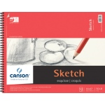 "Canson® Foundation Series 14"" x 17"" Wire Bound Sketch Pad; Binding: Wire Bound; Color: White/Ivory; Format: Pad; Quantity: 50 Sheets; Size: 14"" x 17""; Texture: Smooth; (model C100511032), price per 50 Sheets pad"