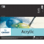 "Canson® Montval® 16"" x 20"" Acrylic Sheet Pad; Binding: Fold Over; Color: White/Ivory; Format: Pad; Quantity: 10 Sheets; Size: 16"" x 20""; Type: Acrylic; (model C100511037), price per 10 Sheets pad"