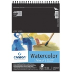 "Canson® Montval® Artist Series 9"" x 12"" Cold Press Watercolor Pad (Top Wire): Wire Bound, White/Ivory, Pad, 12 Sheets, 9"" x 12"", Cold Press, (model C100511058), price per 12 Sheets pad"