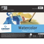 "Canson® Montval® Artist Series 9"" x 12"" Watercolor Cold Press Block Pad 140lb/300g: Fold Over, White/Ivory, Block, 15 Sheets, 9"" x 12"", Cold Press, (model C100511063), price per each"