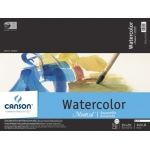 "Canson® Montval® Artist Series 15"" x 20"" Watercolor Cold Press Block Pad 140lb/300g: Fold Over, White/Ivory, Block, 15 Sheets, 15"" x 20"", Cold Press, (model C100511067), price per each"