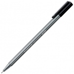 Staedtler® Triplus® Black Fineliner Pen : Black/Gray, .3mm, Super Fine Nib, Multi, (model 334-9), price per each