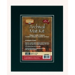 "Heritage Arts™ Archival Series 8"" x 10"" Pre-Cut Double Layer Black Mat Kit: Black/Gray, Frame, Pre-Cut Mat Board, 8"" x 10"", 1/8"", Presentation Board, (model H0810ADB), price per each"