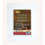 "Heritage Arts™ Archival Series 8"" x 10"" Pre-Cut Double Layer White Mat Kit; Color: White/Ivory; Format: Frame; Material: Pre-Cut Mat Board; Size: 8"" x 10""; Thickness: 1/8""; Type: Presentation Board; (model H0810ADW), price per each"